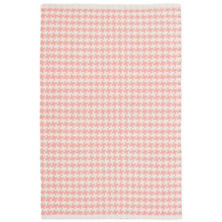 Checks Coral Woven Cotton Rug