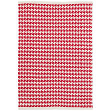 Checks Red Woven Cotton Rug