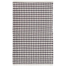 Checks Shale Woven Cotton Rug