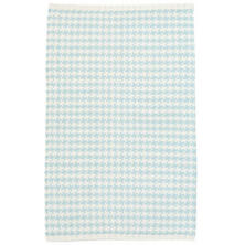 Checks Sky Woven Cotton Rug