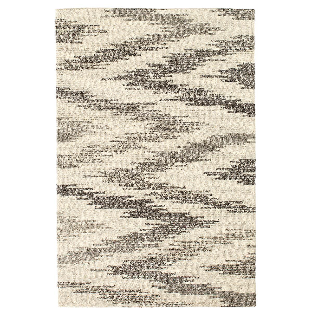 Chekat grey wool micro hooked rug dash albert for Dash and albert blankets