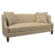 Adams Ticking Brown Cheshire Sofa