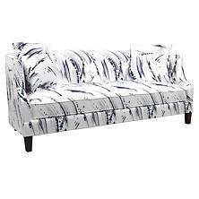 Brushstroke White/Indigo Cheshire Sofa