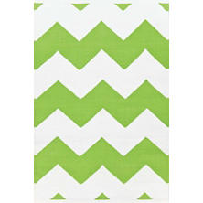 Chevron Apple/White Indoor/Outdoor Rug