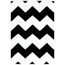Chevron Black/White Indoor/Outdoor Rug