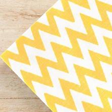 Chevron Daffodil Napkins/ set of 4