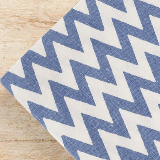 Chevron Denim Napkins/ set of 4