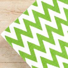 Chevron Green Napkins/ set of 4