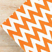 Chevron Tangerine Napkins/ set of 4