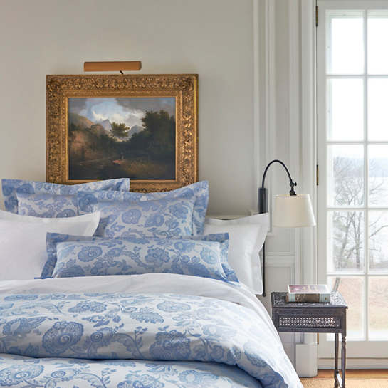 Chinois Damask Delphinium Duvet Cover