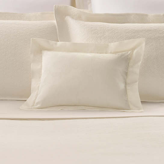 Chinois Damask Ivory Decorative Pillow