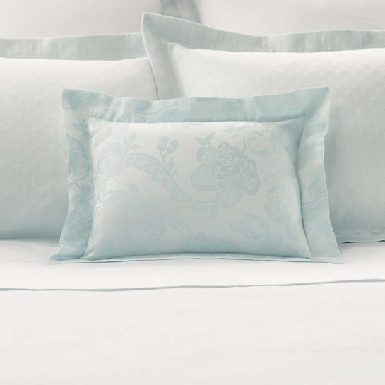 Chinois Damask Pearl Blue Decorative Pillow
