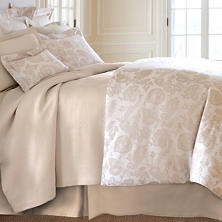 Chinois Damask Sandstone Duvet Cover