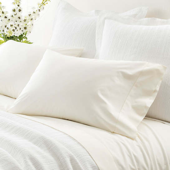 Classic Hemstitch Ivory Pillowcases (Pair)