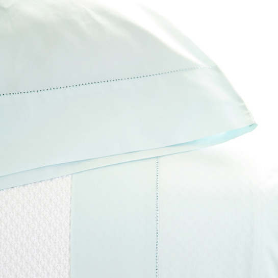 Classic Hemstitch Sky Pillowcases (Pair)