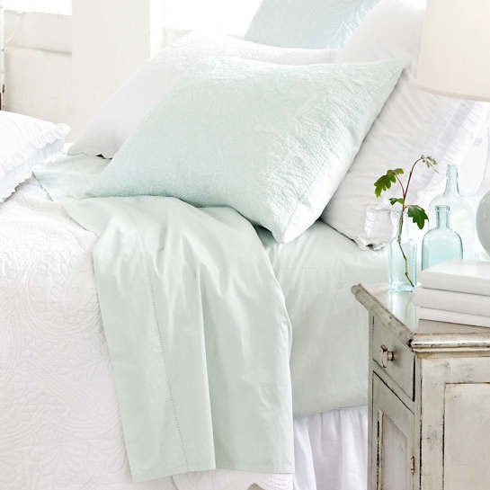 Classic Hemstitch Sky Sheet Set
