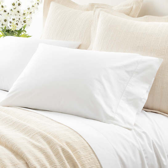 Classic Hemstitch White Pillowcases (Pair)