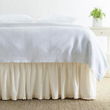 Classic Ruffle Ivory Bed Skirt
