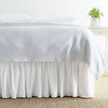 Classic Ruffle White Bed Skirt