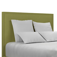 Estate Linen Green Colebrook Whitewash Headboard