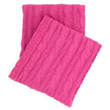 Comfy Cable Knit Fuchsia Throw