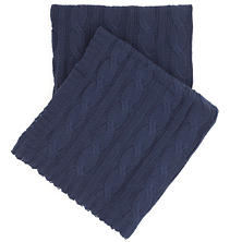 Comfy Cable Knit Indigo Throw