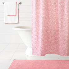 Confetti Fuchsia/Coral Shower Curtain