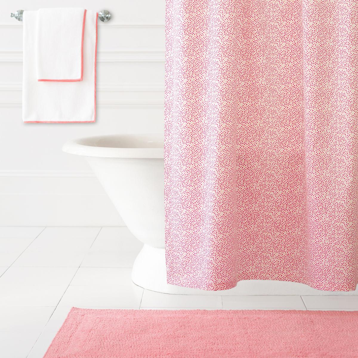 Confetti Fuchsia/Coral Shower Curtain