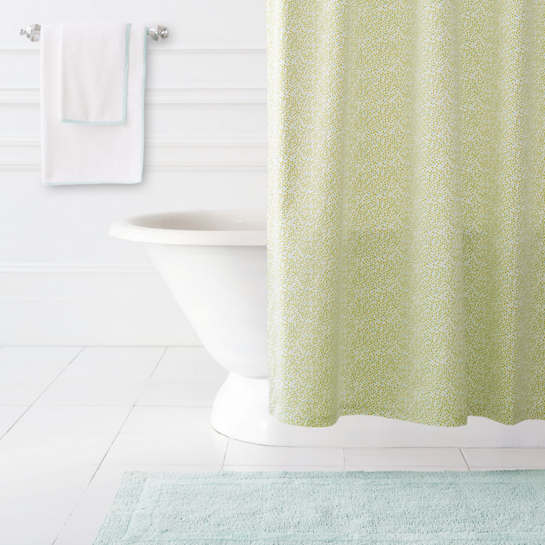 Confetti Green/Sky Shower Curtain