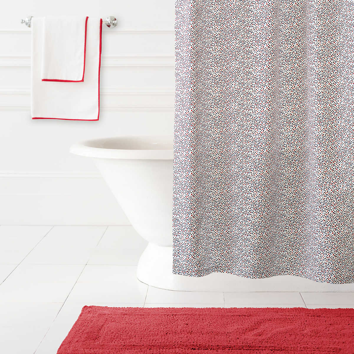 Confetti Red Blue Shower CurtainShower Curtains   Bathroom   Pine Cone Hill. Red And Blue Shower Curtain. Home Design Ideas