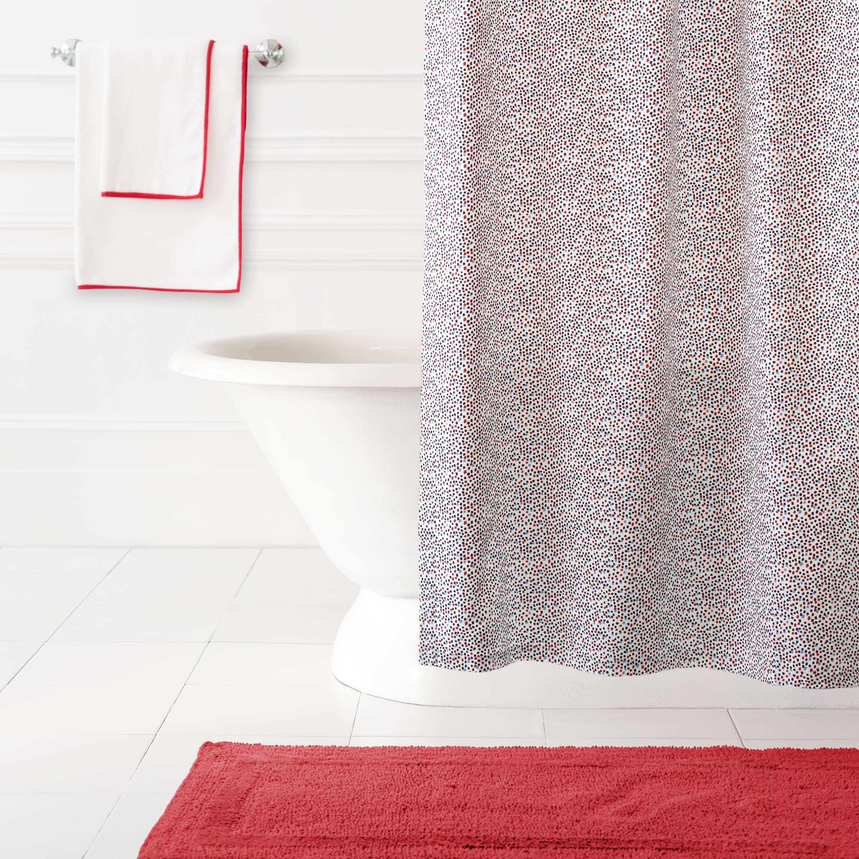 Confetti RedBlue Shower Curtain Pine Cone Hill