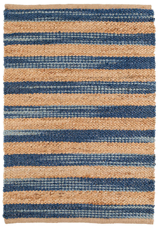 High Quality Corfu Blue Woven Jute Rug