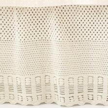 Corossol Crochet Ivory Bed Skirt