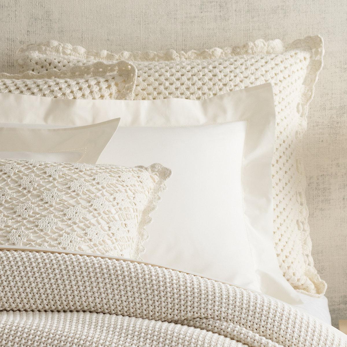 Corossol Crochet Ivory Sham Pine Cone Hill