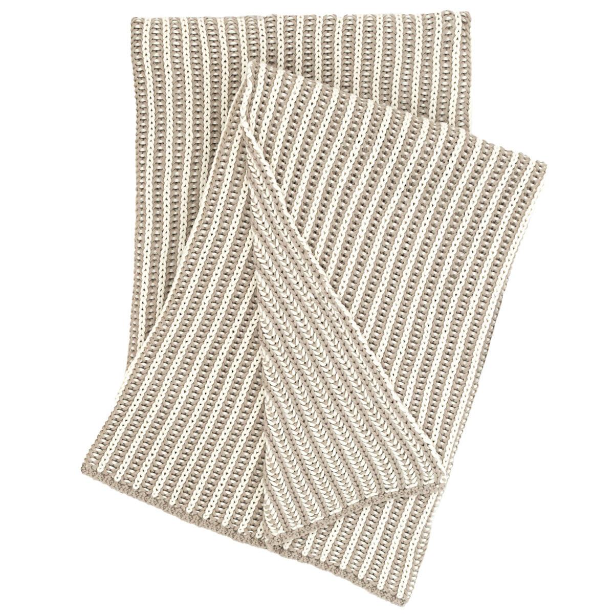 Cozy Knit Pearl Grey Throw