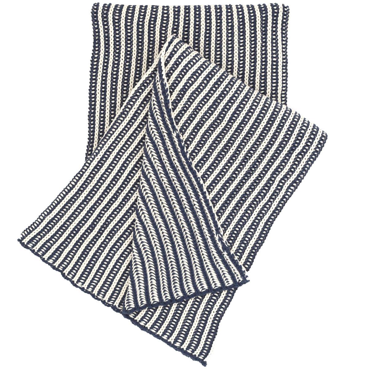 Cozy Knit Indigo Throw