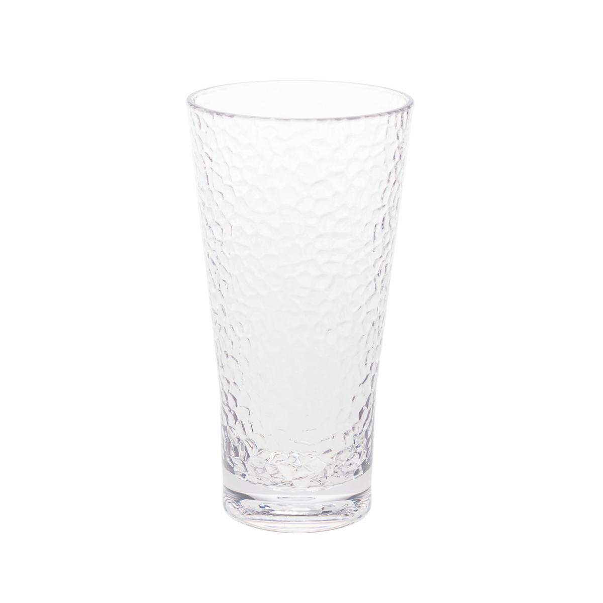 Crackle Clear Tumbler/Set Of 4