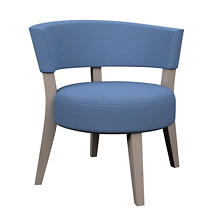 Estate Linen French Blue Crescent Chair