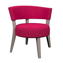 Estate Linen Fuchsia Crescent Chair