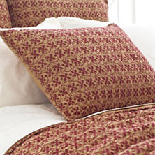 Cross-Stitch Gold Quilted Sham
