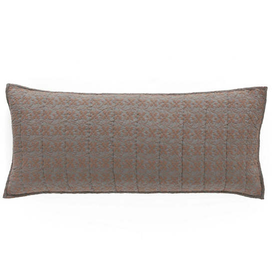 Cross-Stitch Slate Quilted Decorative Pillow