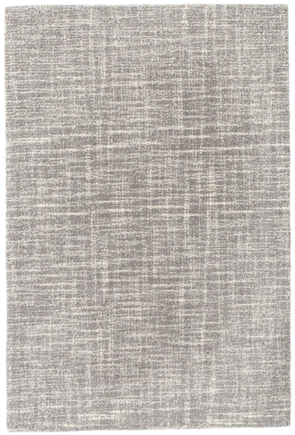 Crosshatch Dove Grey Wool Micro Hooked Rug
