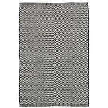 Crystal Black/Ivory Indoor/Outdoor Rug