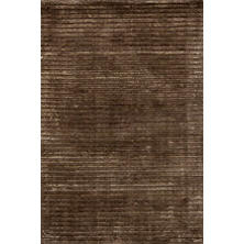Cut Stripe Brown Hand Knotted Rug