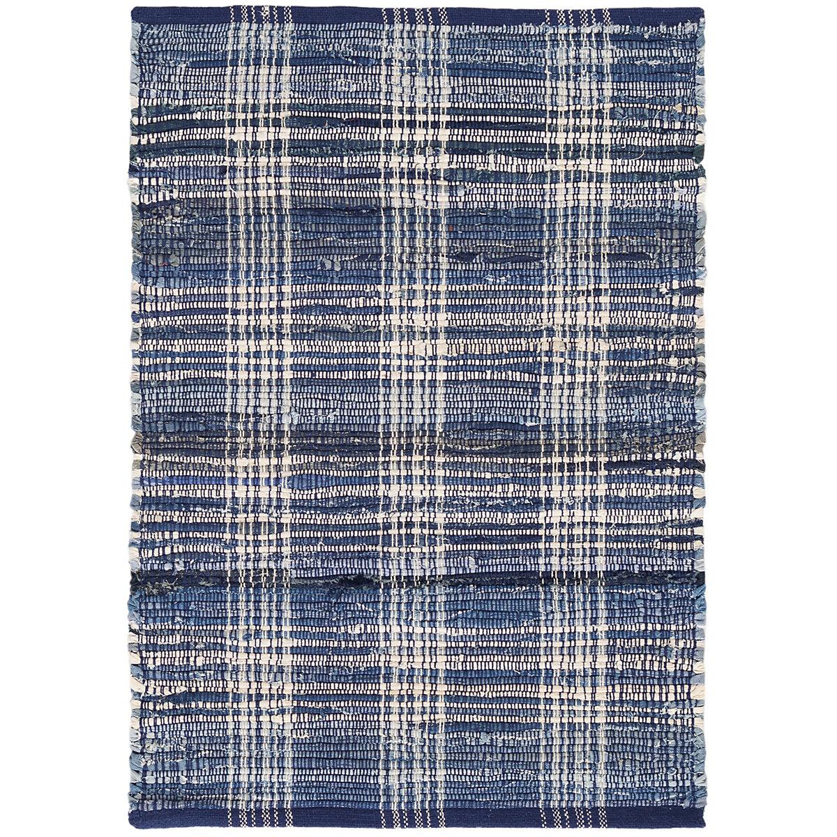 Denim Plaid Woven Cotton Rug Dash Amp Albert