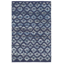 Denim Rag Diamond Indigo Woven Cotton Rug