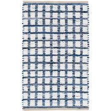 Denim Rag Squares Woven Cotton Rug