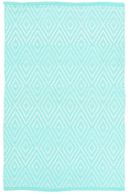 Diamond Aqua White Indoor Outdoor Rug Dash Amp Albert