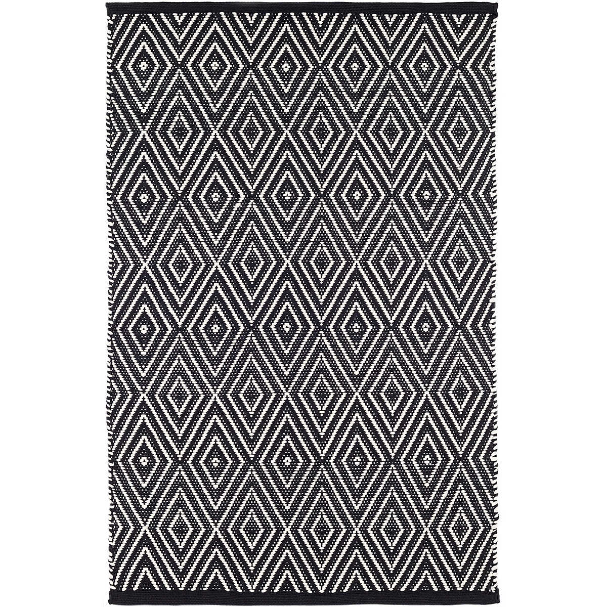 Diamond Black/Ivory Indoor/Outdoor Rug