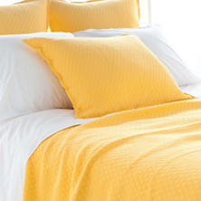 Diamond Canary Matelassé Coverlet